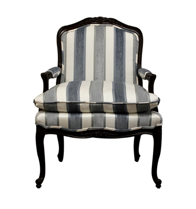 22034 Louis XV Salon Chair (Horizontal Stripe)
