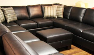 Custom_Sectional_Sofa_Toronto_2056 10 Seater Sectional in black genuine leather