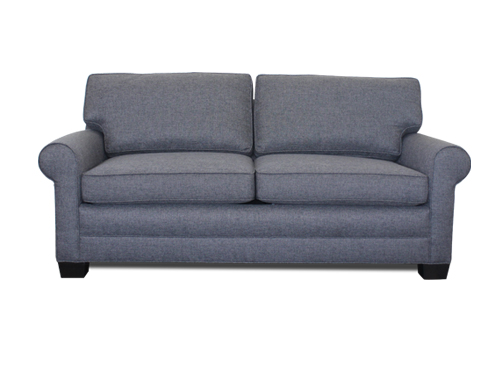 2052 Sloped Arm Leather Sofa